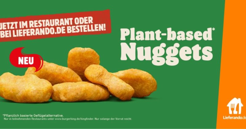 Burger King® erweitert fleischfreies Sortiment mit den Plant-based* Nuggets